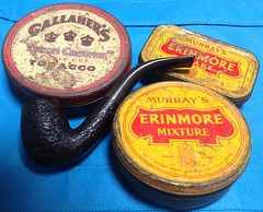 Tobacco tins from the past.. (spelio) Tags: australia 2017 email upload act ipad iphone phone collectable smoking pipe tobacco tin erimore murrays tools gadgets