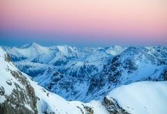 A winter's sunset (norbertfulep) Tags: austria austrianphotographers winter snowy sunset mountains