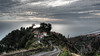 On top of the hill (m0nt2) Tags: hill steep atlanticocean sea water sun reflection narrow road landscape scene madeira