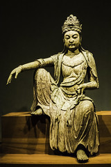 Guanyin (Bodhisattva of Compassion) (Thad Zajdowicz) Tags: zajdowicz hawaii usa travel availablelight honolulu leica lightroom art sculpture guanyin china chinese northensongdynasty tangutxiadynasty wood ancient seated statue light shadow creativecommons bodhisattvaofcompassion honolulumuseumofart museum indoor inside free