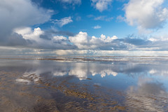 What's more to want! (karindebruin) Tags: nederland netherlands holland zuidholland ouddorp beach strand water clouds wolken reflection reflectie mirror spiegel