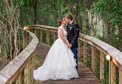 Kiss on a path through the forest - Reserve Harbor Yacht Club (Ryan Smith Photography) Tags: wedding weddingphotography myrtlebeach httpswwwryansmithphotographycom
