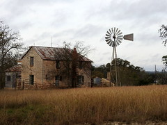 Vacant home & Windmill HWW (The Old Texan) Tags: house sky p900 nikon wednesday windmill texas ranch explored