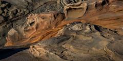 Ochre Rent Surreal (fotostevia) Tags: coosbay coosbayoregon erosion oregoncoast shoreacres shoreacresstatepark abstract
