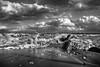 MAU_8971_544_BN (maurizio.s.) Tags: storm sea mare tempesta biancoenero sky cielo clouds nuvole sand beach spiaggia landscape paesaggio primopiano nikon nikond700 nikon28mm28 28mm28e martinsicuro abruzzo