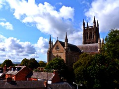 Worcester Cathedral (llocin) Tags: cathedral church colour sky skyline color clouds cloud