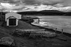 Tierra del Fuego, Argentina (pas le matin) Tags: grass herbe monochrome sky ciel landscape paysage ocean sea shote mer shore côte travel world voyage nb bw noiretblanc blackandwhite argentina argentine patagonia patagonie terredefeu tierradelfuego clouds nuages southamerica canalbeagle boats bateaux canon 5d 5dmkiii eos5dmkiii canon5dmkiii canoneos5dmkiii