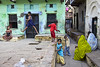 my favorite small square (Dick Verton ( more than 12.000.000 visitors )) Tags: india varanasi asia travel square children playing streetlives streetview