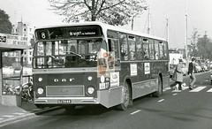 Groningen Stationsweg Buslijn 8 naar De Wijert ca. 1973 (hjrnoorden) Tags: stationsweg gvb