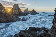 Amanece en el Arrecife de las sirenas (Manuel G.S.) Tags: parque natural cabo de gatanijar sunset amanecer arrecife las sirenas sirens reef almeria nikon d810 manoleison manuel gomez sanchez nature andalucia mar mediterraneo mediterranean