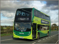 1615, North Fairlee Road (Jason 87030) Tags: 9 sony alpha a6000 ilce nex lens tag flickr gosouthcoast isleofwight iow island october 2017 doubledecker green e400 enviro hs16hse roadside whitehouses holiday 1615 vehicle newport northfairleeroad shot