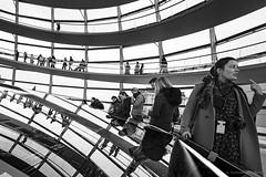 Berlin (ale neri) Tags: street bw aleneri people reflection urban bundestag berlin germany deutschland europe streetphotography blackandwhite alessandroneri reichstag