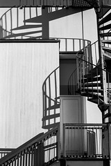 Winding stairs and shadows (K.Pihl) Tags: shadow canon50mmf18 hc110b canoneos500nneweoskisseosrebelg architecture building bw stair film analog