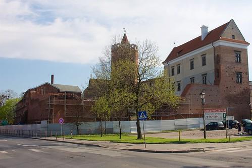 Zamek królewski w Łęczycy od północnego wschodu