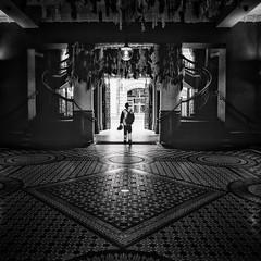 QVB (Bill Thoo) Tags: australia 50mm mamiya6 mamiya travel dark candid city urban interior fomapan fomapan400 analogphotography analog mediumformatfilm mediumformat filmphotography film blackandwhite monochrome bnw newsouthwales nsw sydney queenvictoriabuilding qvb