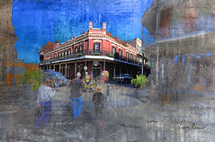 The Muriel's of Jackson Square (LarryHB) Tags: texture horizontal hdr photography connection historic old people scenic neworleans digitalart nrhp larrybraunphotography restaurant