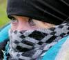 wintertime (Fia by Marv) Tags: woman winter eyes schal frau portrait verhüllt robber scarf hair tücher vermummt colour maskiert augen blond blonde masked mask