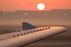 Shanghai Sunrise (Jaws300) Tags: bokeh vortexgenerator generator vortex vgs vg wing wingtip winglet a300600 a306 a300 airbus bldh haze mist parked parking freight freighter cargo stand apron ramp morning rising rise sun sunrise china pvg zspd dhl airhongkong ahk shanghaipudong airport pudong shanghai