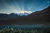 GULMIT (hisalman) Tags: sunset gulmit glacier rays sky water borit lake pakistan hunza travel hisalman mountains canon 6d