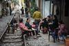 chill on rails (grapfapan) Tags: livingspace people urban street streetlife tracks railways hanoi vietnam travel