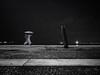 Loneliness Under The Heavy Rain (Abdalis_3k60) Tags: people man umbrella rain tree loneliness winter street sea blackandwhite greece thessaloniki