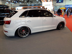 Audi Q3 (911gt2rs) Tags: messe event show ems tuning tile low stance slammed custom airride airlift rsq3 weis white