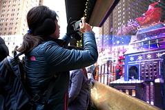 At Macy's Windows, 12-8-2017 (sjnnyny) Tags: sjnnyny stevenj nikond750 afnikkor24mmf28d macyswindows sightsee chirstmaswindows nyc street santa people departmentstore display