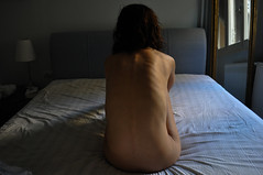 Gloomy (Eleni Maitou) Tags: backshot nude girl bones nikon artnude artistic light mirror thinking photoshoot