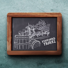 Vineyard travel drawing on chalkboard (Hebstreits) Tags: anniversary art background banner birthday blue brush calligraphy card cards celebration day decoration decorative design festive font greeting hand handwritten happy holiday illustration inscription invitation letter lettering ornament poster retro script sign template text type typographic typography vector vintage word