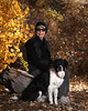 Carol and Chloe in the bosque (Mitch Tillison Photography) Tags: portrait beautiful loving furbaby pet owner dog bosque newmexico albuquerque fall autumn cottonwoods forest trees mitchtillison photo photography nikon d5 tamron 70200