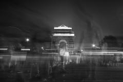 Moving Souls (Rk Rao) Tags: bw blackandwhitephoto motionshot movingsouls moods monochrome photooftheday people nightphotography motion blured fineart fineartphotography indiagate artistic art expolre flickr forthepeople radhakrishnarao rkrao newdelhi india delhi