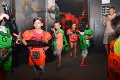 Laser Tag At Everett's Birthday Party (Joe Shlabotnik) Tags: chloe lasertag august2017 takingphotos 2017 qzar isabellap jacobh isabeli afsdxvrzoomnikkor18105mmf3556ged