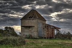 Rural History (gecko47) Tags: phillipisland westernport cowes victoria ruralbuilding kiln chicorykiln dusk clouds hdr 5images farm disused luminar2018