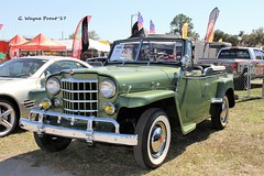 1950 Willys Jeepster Convertible (Gerald (Wayne) Prout) Tags: 1950willysjeepsterconvertible lakelandlinderregionalairport cityoflakeland polkcounty florida usa stateofflorida prout geraldwayneprout canon canoneos60d eos 60d photographed photography display digital camera 1950 willys jeepster convertible jeep 4x4 vehicle truck carshow carlisleauctions carlisle auction 2017winterfloridaautofestlakeland 2017 winter autofest lakeland city polk county linder regional airport