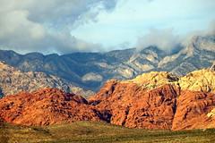 Nature's colors (Ray-48) Tags: redrock lasvegasnevada lasvegas nevada desert mountains colors clouds