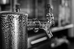 A frosty beer to go (dharder9475) Tags: 2017 openhousechicago bw beer blackandwhite bokeh closeup condensation privpublic shallowdepthoffield