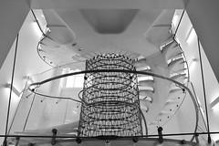 White Flight (Douguerreotype) Tags: england monochrome geometric gb blackandwhite london uk urban british mono stairs spiral geometry architecture britain city bw helix steps
