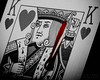The Suicide King - King of Hearts (WibbleFishBanana) Tags: macromondays gamesorgamepieces heart hearts king card deal play poker flush game casino suicide blood sword crown dead death cut skewer slice stab wound impale