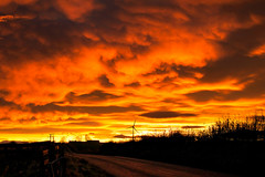 Sunset in Maud (ChicqueeCat) Tags: aberdeenshire sunset landscape fiery nikon d3300