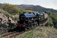 LMS 5305 departs Arisaig. May'87. (David Christie 14) Tags: arisaig black5