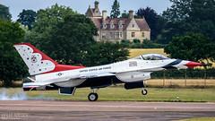Thunderbird 2.....{Explore #143 05.12.17} (lee adcock) Tags: 2017 f16 riat tamron150600 thunderbirds airshow fairford nikond7200 parkandview usaf west