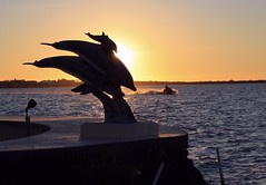 Calm after Chaos (PelicanPete) Tags: sunset monroecounty hurricane irma storm florida southflorida floridakeys keylargo dolphins statue resort bayside jetski choppy sky water nature beauty calmafterchaos blackwatersound quartasunset402