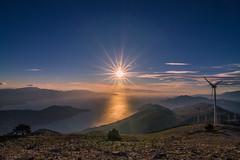 View from mountain Kithaironas (Vagelis Pikoulas) Tags: greece mountain kithaironas landscape view sky sea seascape canon 6d tokina 1628mm autumn 2017 october sun sunset sunburst sunshine sunrays