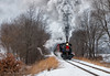 Little River; Big Performance (Wheelnrail) Tags: michigan steam engine locomotive little river railroad 462 smoke woods passenger train santa trains excursion indiana northeastern shortline heavyweight snow winter december 110 lrr
