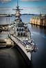 USS Wisconsin (naelli222) Tags: uss wisconsin battleship war navy military ship harbor sailor docked