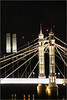 Twin Towers Times Two (Mabacam) Tags: 2017 london battersea night nightscene river thames riverthames lights bridge albertbridge towers chimneys batterseapowerstation two