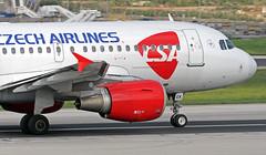 OK-MEK LMML 21-10-2017 (Burmarrad (Mark) Camenzuli) Tags: airline csa czech airlines aircraft airbus a319112 registration okmek cn 3043 lmml 21102017