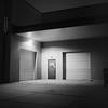 untitled-19-Edit (dvlmnkillatron) Tags: yashica mat 124 film bw selfdeveloped ilfordhp5 pushed 3200 champaign 6x6 square sullivanplumbing backdoor garage door mediumformat 120