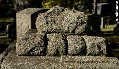 Rocks from one Rock (rumimume) Tags: potd rumimume 2017 niagara ontario canada photo canon 80d sigma fall autumn stmarks church graveyard sun november outdoors history uppercanada age notl