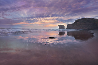 Sunset at Maori Bay